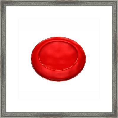 Normal Red Blood Cell Framed Print by Harvinder Singh