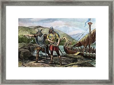 Norsemen Landing, C1000 Framed Print