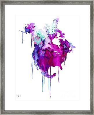 North America 2 Framed Print by Luke and Slavi