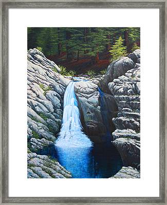 North Fork Falls Framed Print