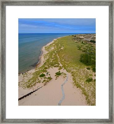North Of Big Sable Point 2 Framed Print by Michelle Calkins