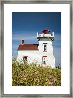 North Rustico Lighthouse Framed Print by Elena Elisseeva