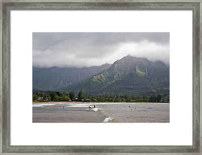 North Shore Kauai Framed Print by Lannie Boesiger
