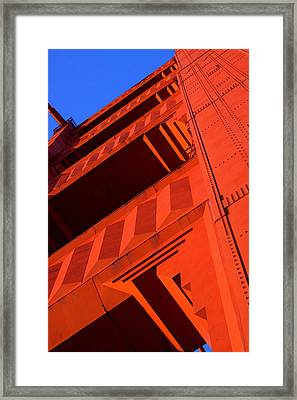 North Tower Golden Gate Bridge Framed Print