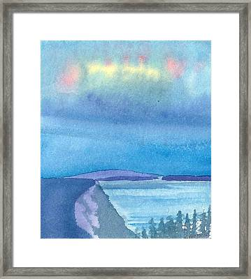 Northern Lights Framed Print by Charlotte Hickcox