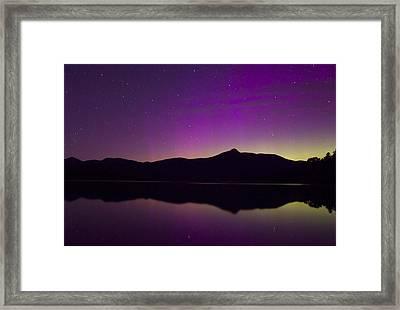 Northern Lights Over Mount Chocorua Framed Print by John Burk