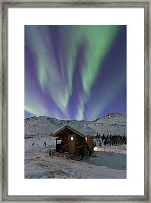 Northern Lights Shimmer Framed Print by Hugh Rose