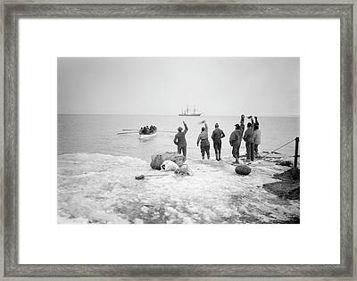Northern Party Antarctic Expedition Framed Print by Scott Polar Research Institute