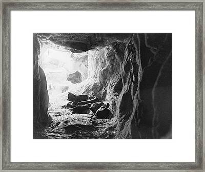 Northern Party Antarctic Ice Cave Framed Print by Scott Polar Research Institute