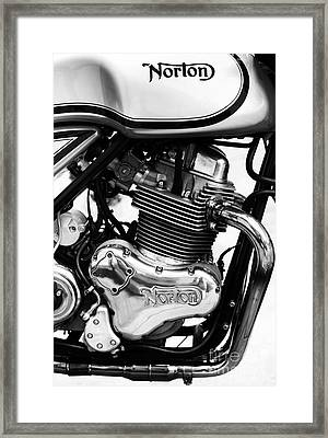 Norton Commando 961 Sport Monochrome Framed Print by Tim Gainey