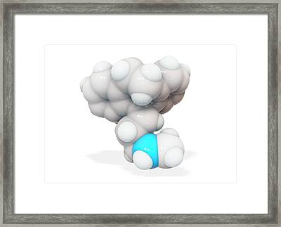Nortriptyline Drug Molecule Framed Print by Ramon Andrade 3dciencia
