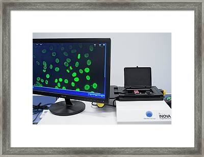 Nova View Automated Pathology Microscope Framed Print by Aberration Films Ltd