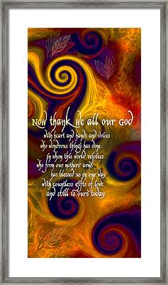 Now Thank We All Our God Framed Print