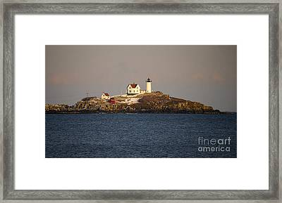 Nubble Lighthouse Framed Print by Steven Ralser
