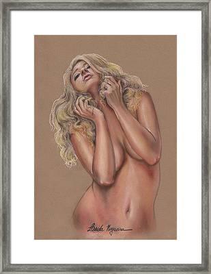 Nude Framed Print by Leida Nogueira
