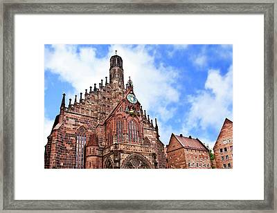 Nuremberg, Germany, Church Of Our Lady Framed Print by Miva Stock