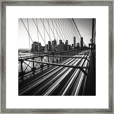 Nyc Brooklyn View Framed Print by Nina Papiorek