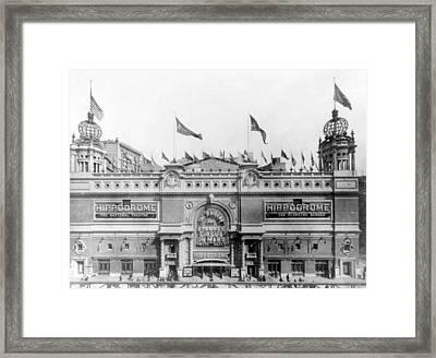 Nyc, Hippodrome Theatre, 1905 Framed Print