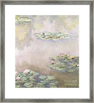Nympheas Framed Print by Claude Monet