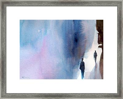 The Only Way Framed Print