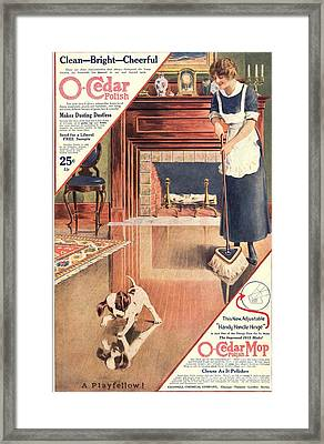 O-cedar 1910s Usa Polish Dusting Framed Print by The Advertising Archives