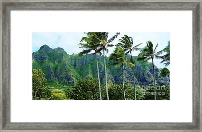 Oahu Mountains Framed Print