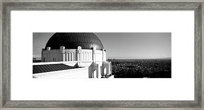Observatory With Cityscape Framed Print