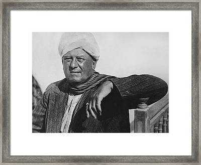 Occultist Aleister Crowley Framed Print by Underwood Archives