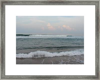 Framed Print featuring the photograph Ocean At Buxton Nc 2 by Cathy Lindsey
