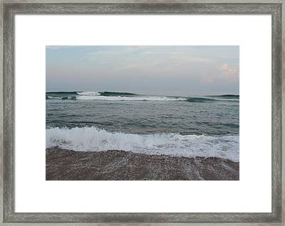 Framed Print featuring the photograph Ocean At Buxton Nc 7 by Cathy Lindsey