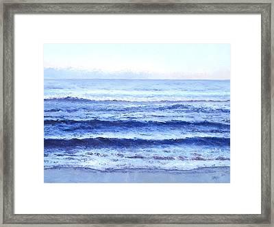 Ocean At Dusk Framed Print