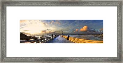 Ocean Beach Pier Framed Print by Kenny Noddin