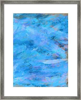 Ocean Blue Abstract Framed Print by Frank Tschakert