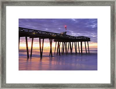 Ocean City Sunrise Framed Print by Dan Myers
