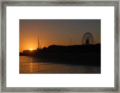 Ocean City Sunset Framed Print by Dan Myers