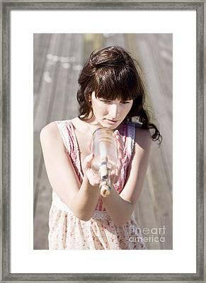 Ocean Message Framed Print by Jorgo Photography - Wall Art Gallery