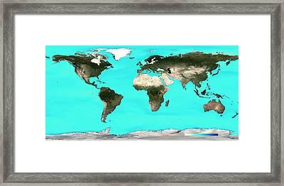 Ocean Surface Ph Framed Print by Noaa