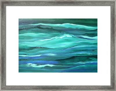 Ocean Swell Abstract Painting By V.kelly Framed Print