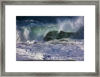 Ocean Waves Framed Print by Garry Gay