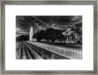 Ocracoke Lighthouse Framed Print by Tony Cooper