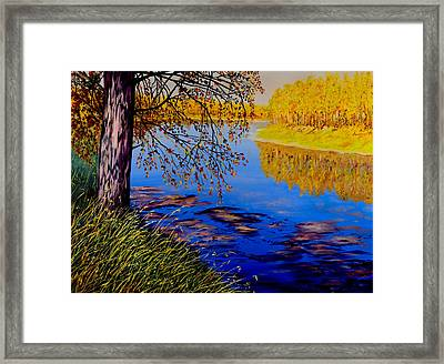 October Afternoon Framed Print by Sher Nasser
