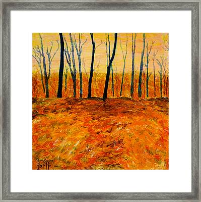 Framed Print featuring the painting October by Ron Richard Baviello
