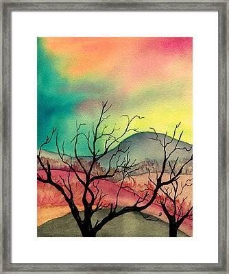 October Sky Framed Print