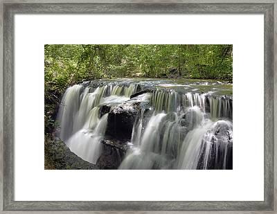Odom Creek Waterfall Georgia Framed Print