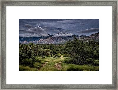 Odyssey Into Clouds Oil Framed Print