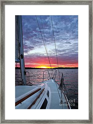 Off Into The Sunset Framed Print by Jill Hyland