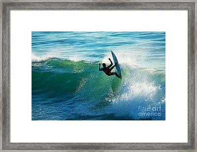 Off The Lip Framed Print by Paul Topp