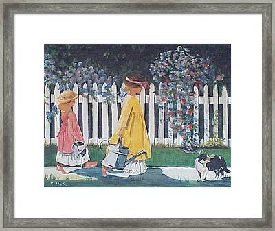 Off To The Garden Framed Print