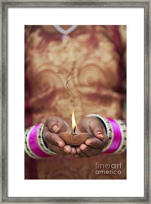 Offering The Light Framed Print by Tim Gainey