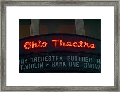 Ohio Theater Marquee Theater Sign Framed Print